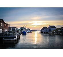 Peggy's Cove Fishing Village Photographic Print