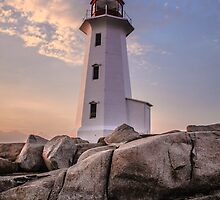 Peggy's Cove Lighthouse by ktsPhotography
