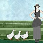 Pekin Duck Lady by Janet Carlson