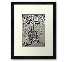 Christ in Distress . Pensive Christ . Chrystus Frasobliwy. by Andrzej Goszcz. Framed Print