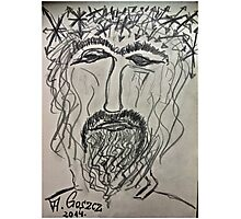 Christ in Distress . Pensive Christ . Chrystus Frasobliwy. by Andrzej Goszcz. Photographic Print