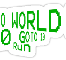 Hello World! Sticker
