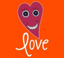 Cartoon Heart - LOVE Kids Tee