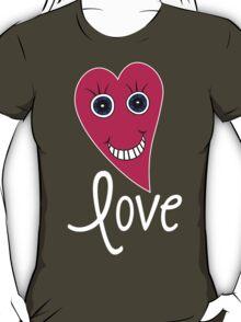 Cartoon Heart - LOVE T-Shirt
