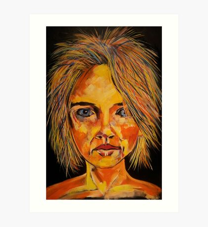 random face Art Print