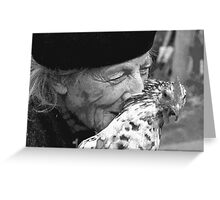 Portraits : BEST Marie, kindness au Naturel,  version 11 Black & White  collector  1977  11  (c)(h) by Olao-Olavia / Okaio Créations Greeting Card