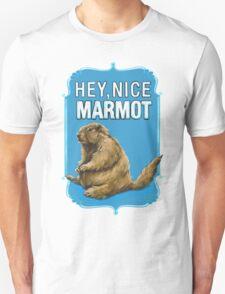 BIG LEBOWSKI- the Dude - Hey, Nice Marmot Unisex T-Shirt