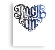 Rock On Foo Fighters - Tshirt Canvas Print