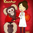 Doctor Year Of The Monkey, Chinese New Year - Female Doctor by Moonlake