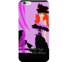 Red Hair glamour iPhone Case/Skin