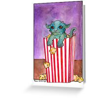 Popcorn Beastie Greeting Card