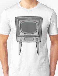 Black and White Retro TV Tee T-Shirt