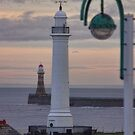 Seaburn and Roker Lighthouse. by Avril Harris