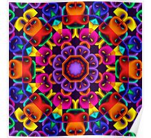 The Happy Kaleidoscope, fractal abstract art Poster