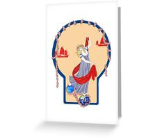Tarot Two of Coins Greeting Card
