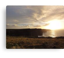 Sundown on the Cliffs of Moher Canvas Print