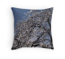 Sparkling Icy Tree - Mother Nature's Decoration Throw Pillow