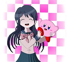 Maizono Sayaka and Kirby by JordanHaruka