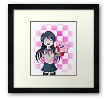 Maizono Sayaka and Kirby Framed Print