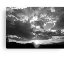 ©TSS The Sun Series XIII Monochrome Canvas Print