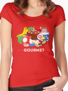 Gourmet - Video Game Food Tee Women's Fitted Scoop T-Shirt