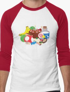 Gourmet - Video Game Food Tee Men's Baseball ¾ T-Shirt