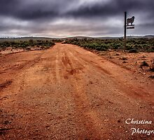 Country Road from Outback Australia by Chris Brunton