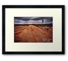 Country Road from Outback Australia Framed Print