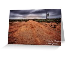Country Road from Outback Australia Greeting Card