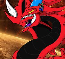 Slifer and luigi! by DerpyDoo