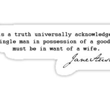 It is a truth universally acknowledged...  Sticker