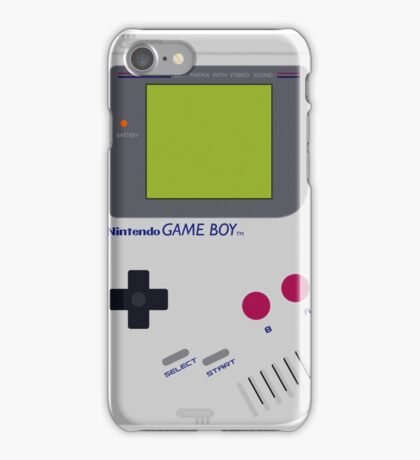 game boy hand held iPhone Case/Skin