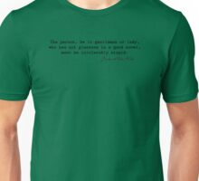 The person...who has not pleasure in a good novel Unisex T-Shirt