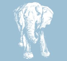 Elephant Sketch (Inverted) Kids Tee