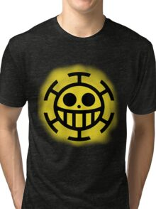 Heart Pirates Logo (Blurred Background) Tri-blend T-Shirt
