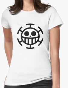 Heart Pirates Logo (Plain) Womens Fitted T-Shirt