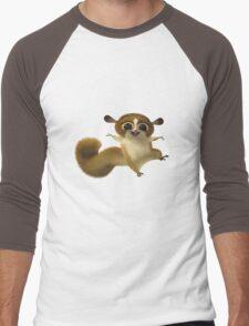 Madagascar Lemur Funny Cute Men's Baseball ¾ T-Shirt
