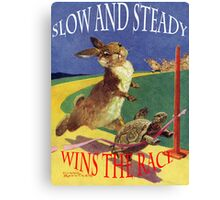 The hare and the tortoise. Canvas Print