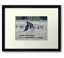 Valentine's Day fun - Grampians National Park, Vic Framed Print