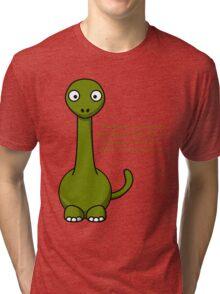 Green Dino  Tri-blend T-Shirt