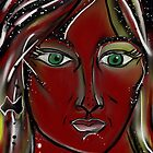 Flame Trees - Australia Day Girl by Anthea  Slade