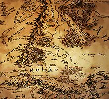 Map of Middle-Earth by justgeorgia