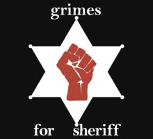 Grimes For Sheriff! Inspired by Hunter S Thompson Kids Tee