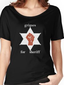 Grimes For Sheriff! Inspired by Hunter S Thompson Women's Relaxed Fit T-Shirt