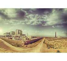 Dungeness Power Station and Lighthouse Photographic Print