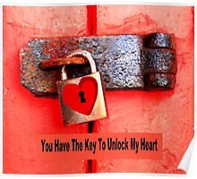 Padlocked Heart Poster