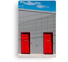 Red doors Canvas Print