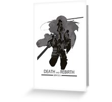 Death and Rebirth Greeting Card