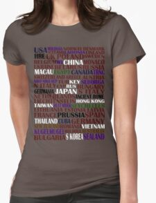hetalia || characters Womens Fitted T-Shirt