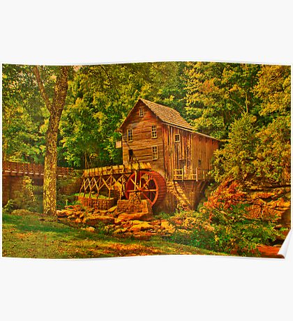 Old Grist Mill  hdr Poster